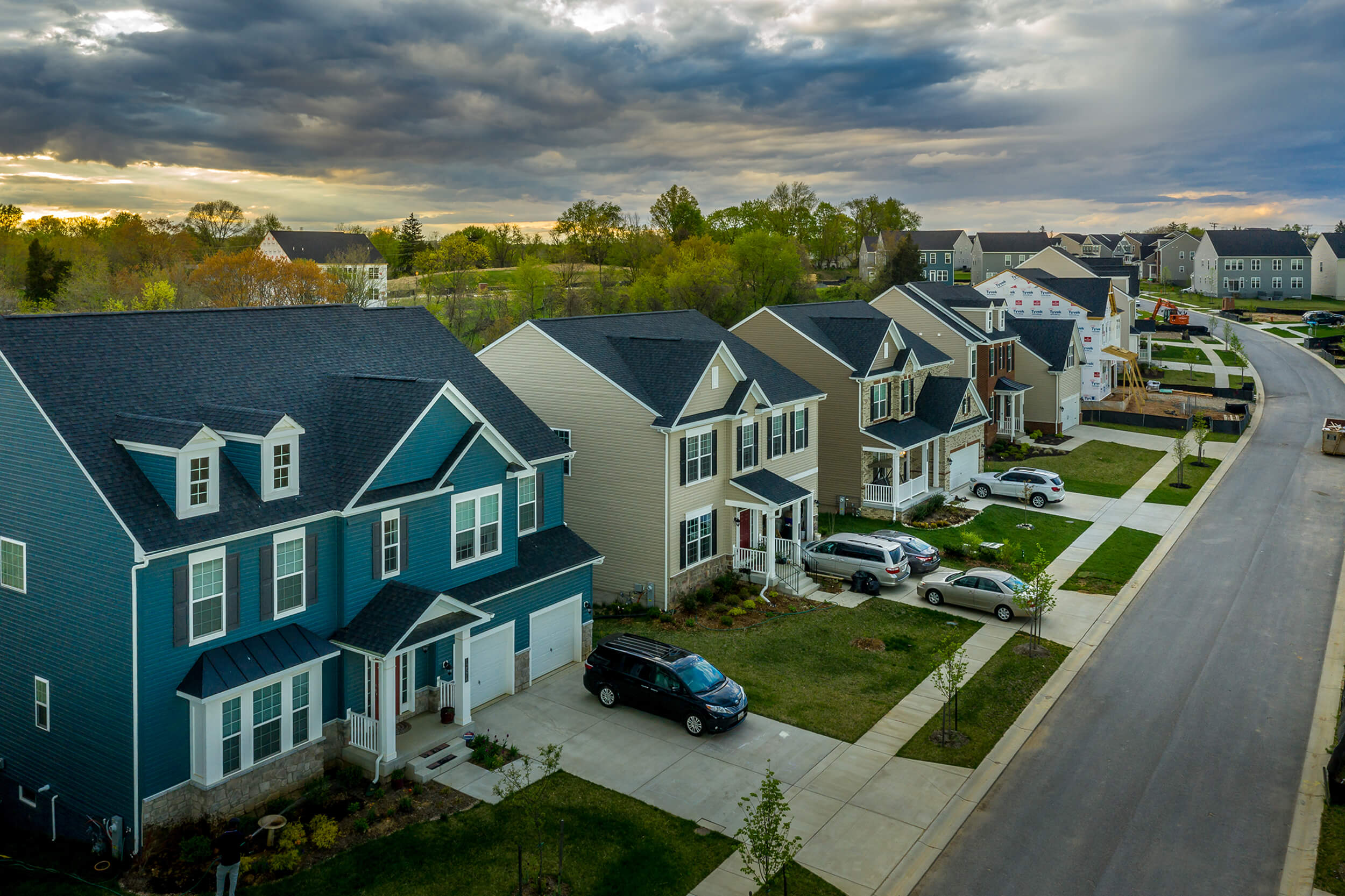 neighborhood of residential roofing projects