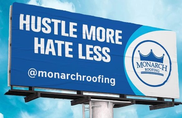 monarch roofing billboard